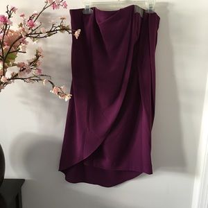 Halston Heritage Dresses - Halston Heritage Strapless Draped Cocktail Dress